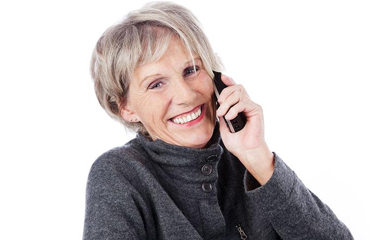 Mevrouw aan de telefoon